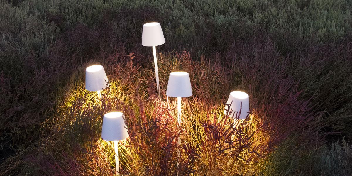 poldina pro lampada zafferano ricaricabile
